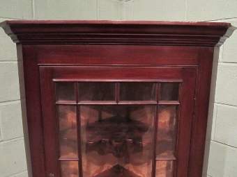 Antique ANTIQUE REGENCY MAHOGANY WALL CORNER CABINET C1820 W7320/25.2