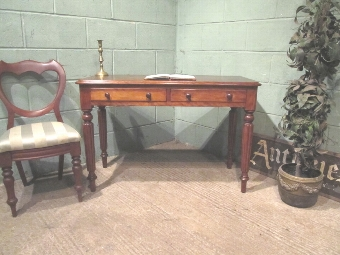 Antique ANTIQUE WILLIAM 1V MAHOGANY SIDE WRITING TABLE C1830 W7336/11.3