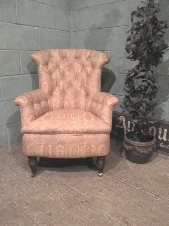 Antique ANTIQUE VICTORIAN TUB ARMCHAIR W7365/18.3