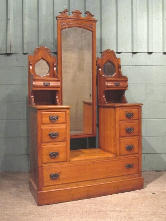 Antique ANTIQUE EDWARDIAN SATINWOOD BEDROOM SUITE C1900