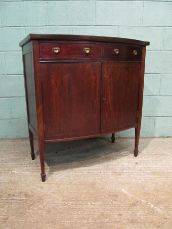 Antique ANTIQUE EDWARDIAN MAHOGANY BOW FRONT CABINET C1900 W7442/27.5