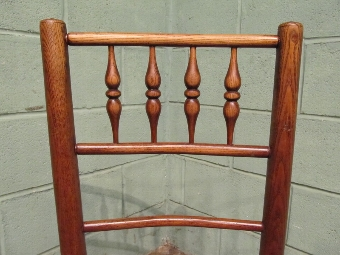 Antique Antique Set Four Early 19th Century Country Elm Spindle Back Chairs W7509/29.7