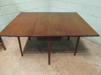 Antique Antique Georgian Oak Drop Leaf Dining Table Seats 8 w7545/2.9