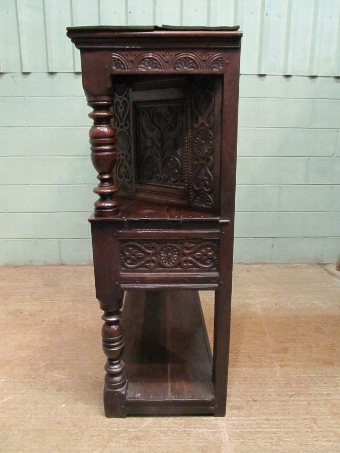 Antique Antique Late 18th Century Carved Joined Oak Livery Cupboard W7562/9.9