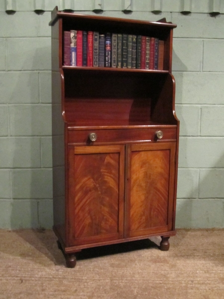 Antique ANTIQUE REGENCY MAHOGANY BOOKCASE CUPBOARD W7022/9.7