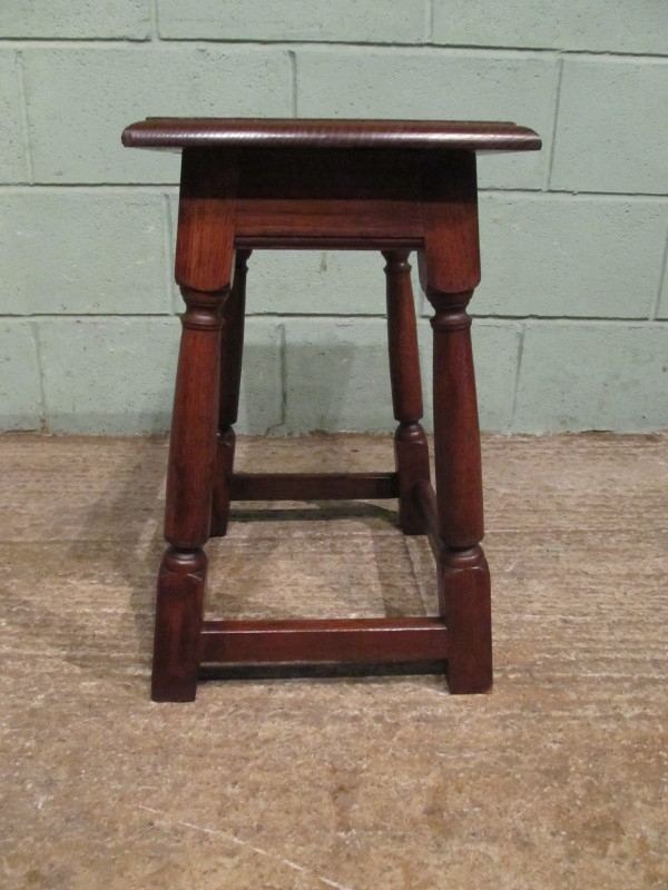 Antique ANTIQUE VICTORIAN COUNTRY OAK STOOL W7067/3.9