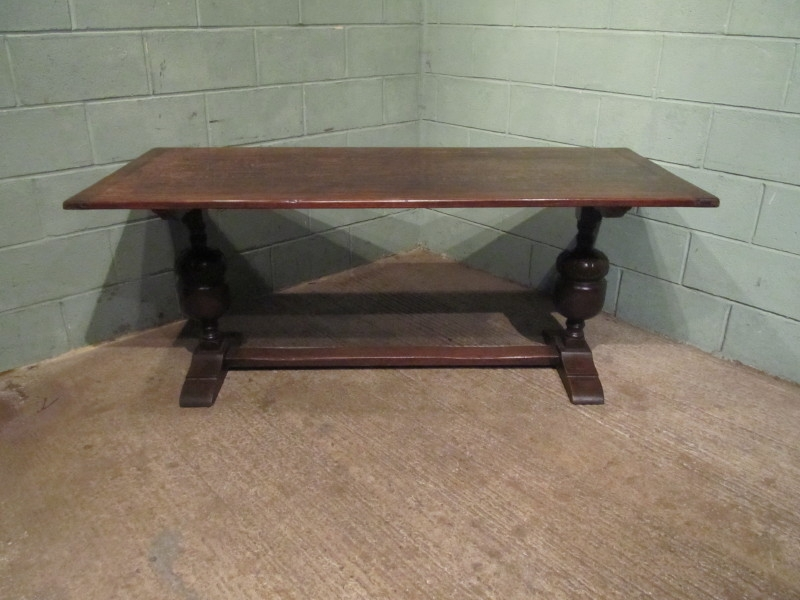 Antique ANTIQUE VICTORIAN OAK REFECTORY DINING TABLE C1880 W7096/8.10
