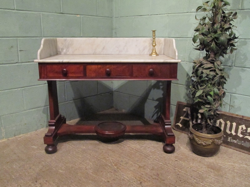 Antique Early Victorian Marble Washstand c1840 w7226/31.12
