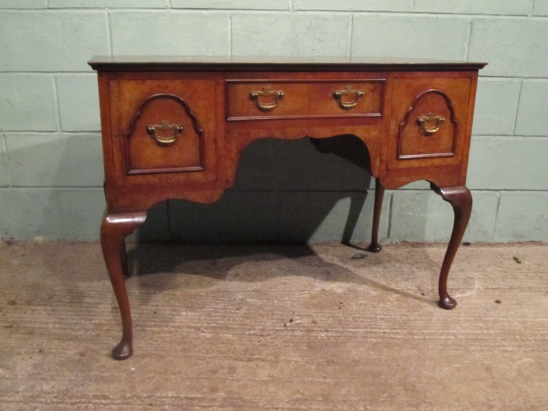 ANTIQUE LATE 19TH CENTURY BURR WALNUT LOWBOY DESK W7280/5.2