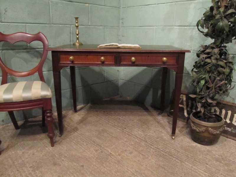ANTIQUE EDWARDIAN MAHOGANY WRITING TABLE DESK BY MAPLES & CO C1900 W7246/18.2