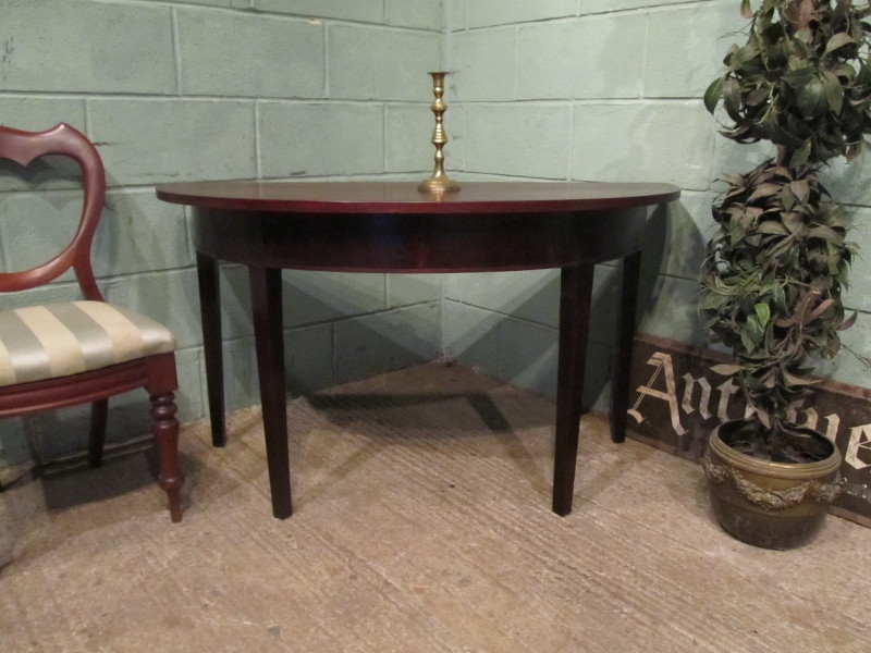 ANTIQUE REGENCY MAHOGANY DEMI LUNE SIDE TABLE C1820 W7245/18.2