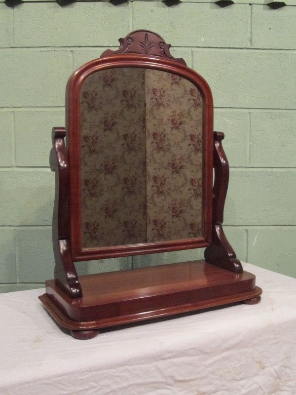Antique ANTIQUE VICTORIAN LARGE MAHOGANY TOILET MIRROR C1880 W7309/18.2