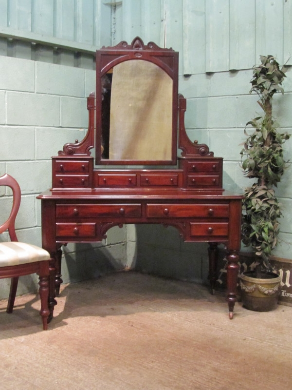 ANTIQUE VICTORIAN MAHOGANY DRESSING TABLE C1880 W7520/12.8