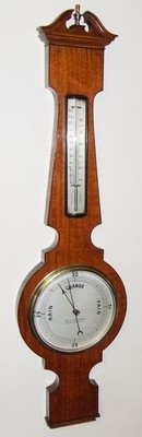 Antique Inlaid Satinwood Banjo Barometer: Armstrong LIVERPOOL & MANCHESTER (a55)