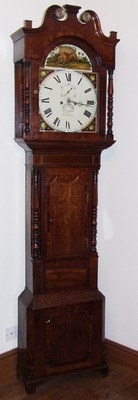 Antique Antique Oak & Mahogany Grandfather Longcase Clock : B Griffiths TUNSTALL