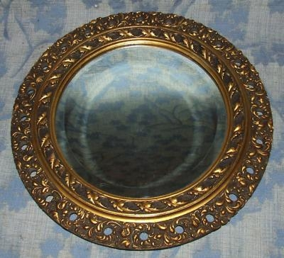 Antique French Antique Carved Gilded Bevelled Glass Mirror (6)