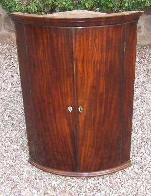 Antique Antique GEORGE III Mahogany Bow Front Corner Cupboard