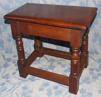 Antique Antique Style SOLID Oak Joint Stool / Occasional Table / Lamp Stand (35)