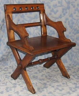 Antique Antique Victorian Arts & Craft Gothic GLASTONBURY Chair