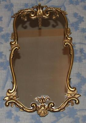 Antique Superb Antique Style Gilt Metal Mirror (87)