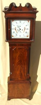 Antique Antique Mahogany Longcase Clock : HARRISON, ORMSKIRK