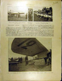 Antique Print 1911 Calais London Aeroplane Hendon Beaumont