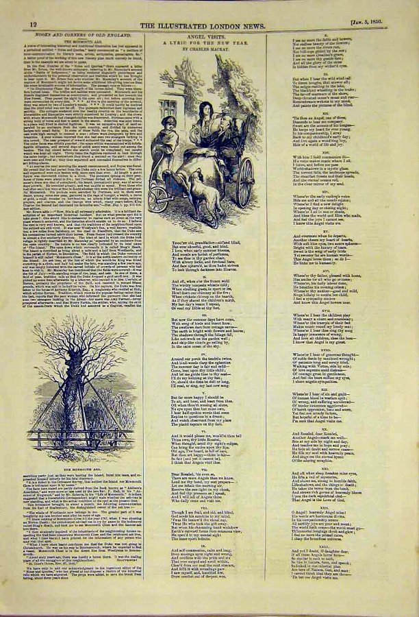 Print Angel Visits Lyric New Year Mackay Old 1850
