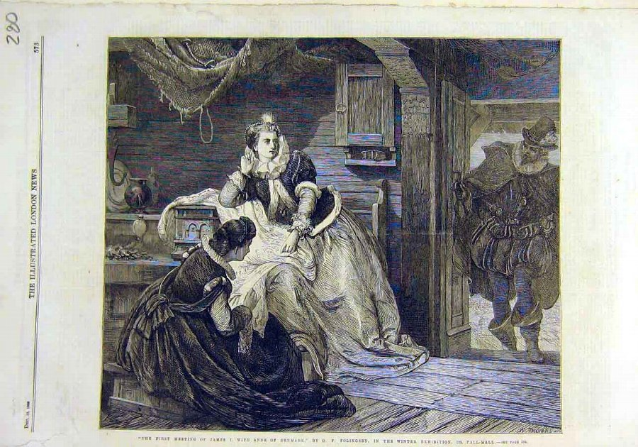 Print Anne-Denmark James-I Meeting Folingsby Art 1
