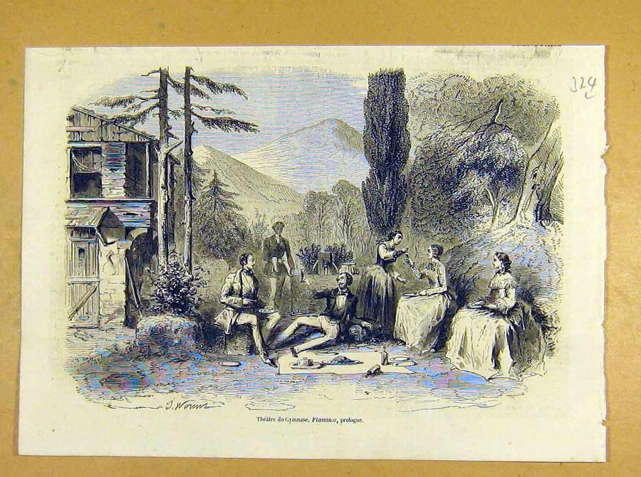 Print Theatre Gymnase Flaminio Prologue French 185