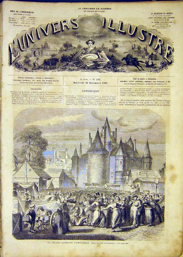 Print Amsterdam Holland Market French 1865 02LUN1