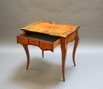 Antique C19th bureau plat writing table