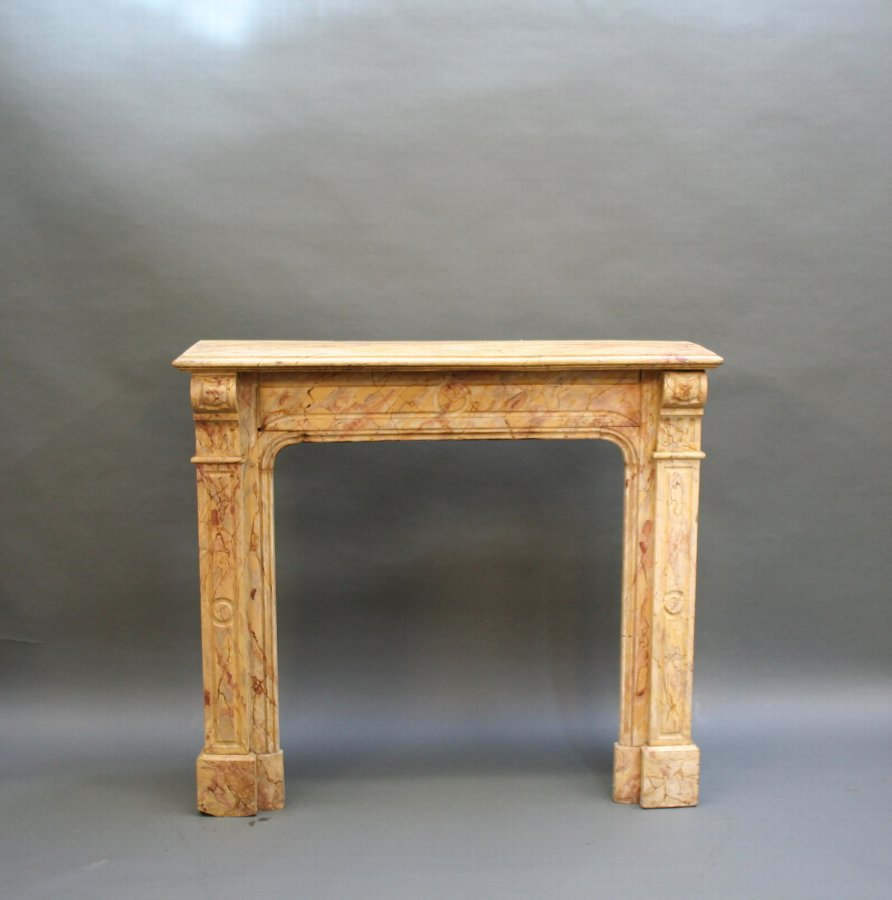 Early C19th faux marble fire surround