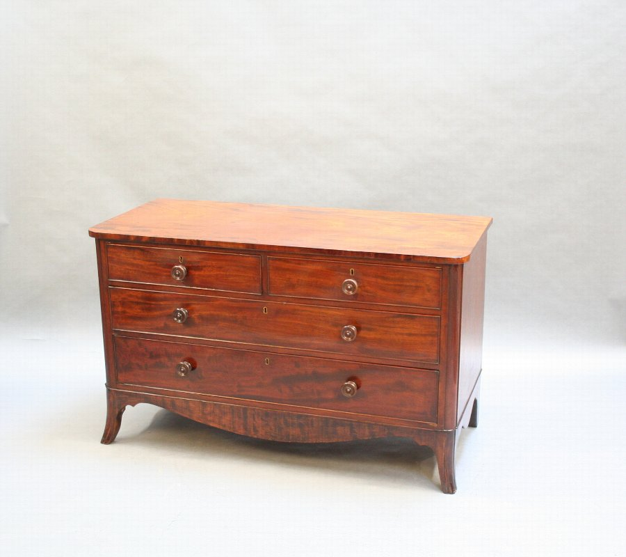 Victorian mahogany low chest