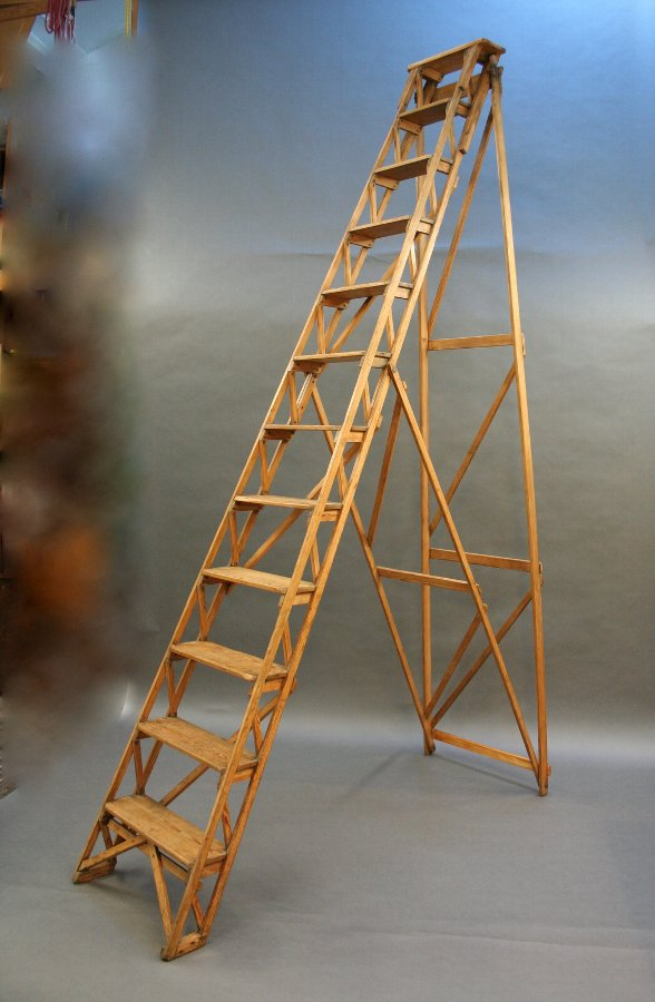 Huge Library Steps Ladder c.1920