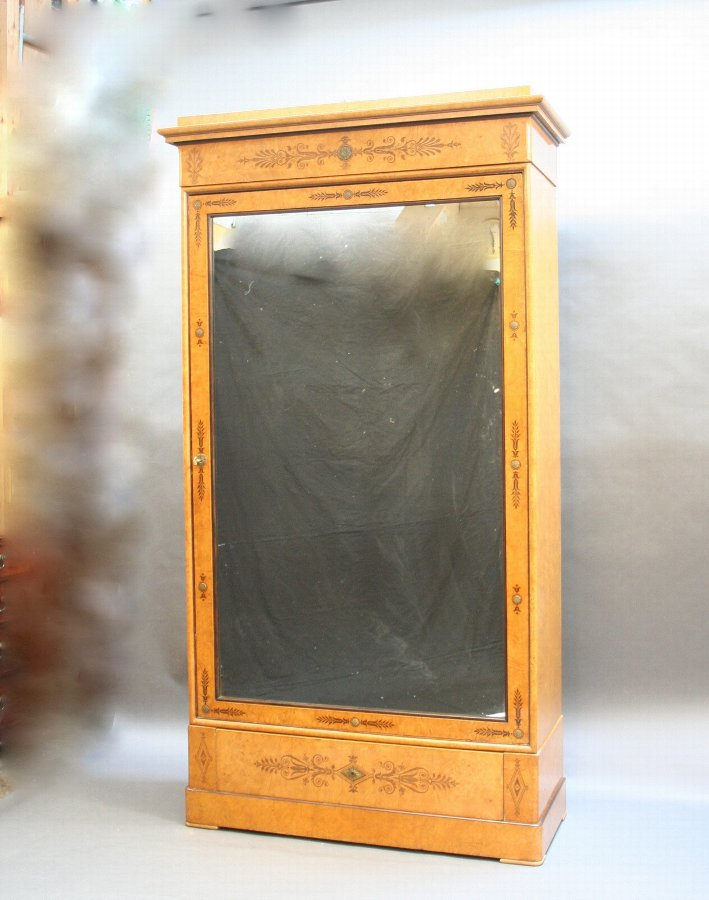 Late C19th elegant armoire wardrobe