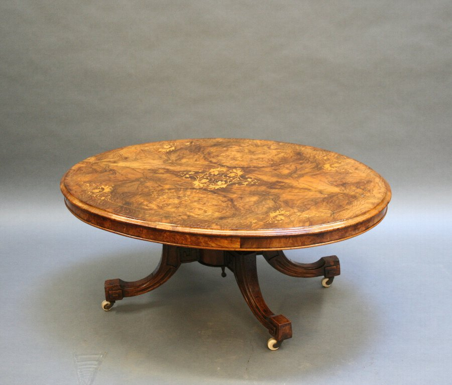 Victorian walnut coffee table