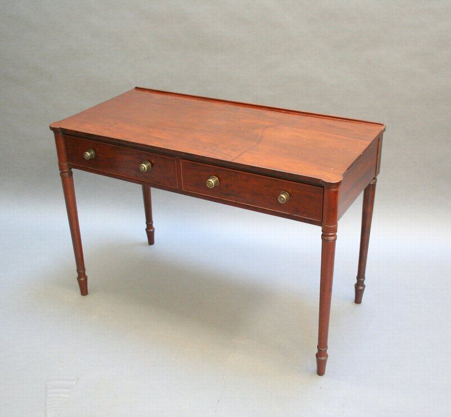 Regency mahogany writing table