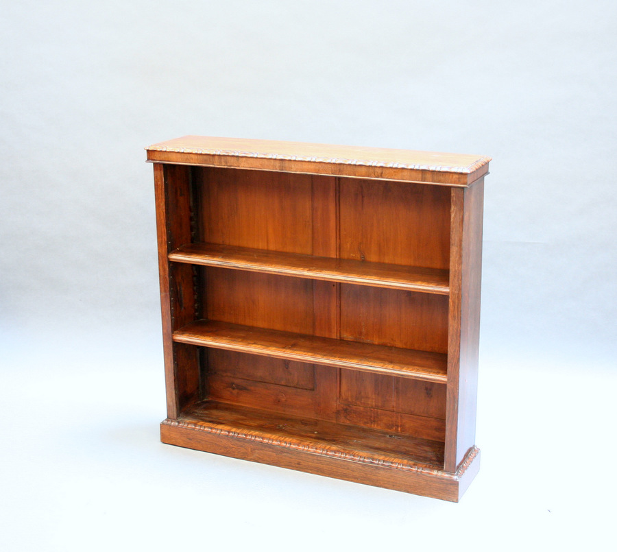 C19TH ROSEWOOD BOOKCASE