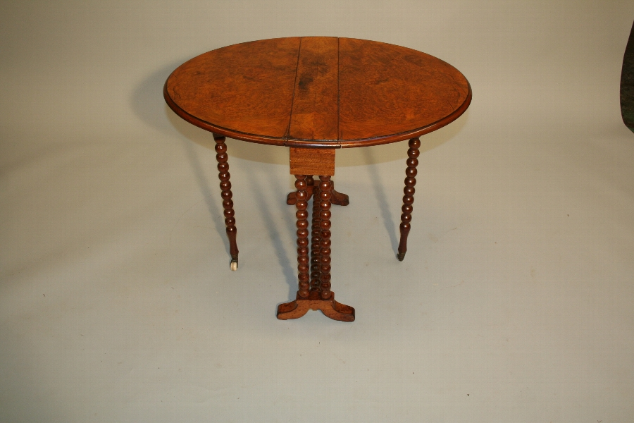 sutherland table, Victorian burr-walnut