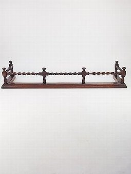 Antique Vintage Oak Fire Fender - 1920s-30s Firefender Fire Guard Surround Hearth Gate