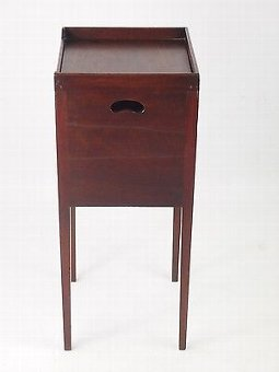 Antique Antique Georgian Mahogany Bedside Cabinet -Regency Hall Pot Cupboard Night Stand