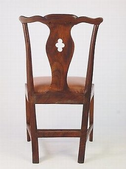 Antique Antique Georgian Elm Desk Chair - Hall Dining Side Bedroom Dressing Table Chair