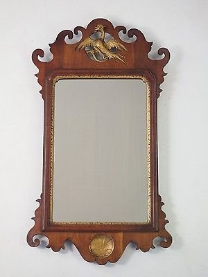 Antique Antique Georgian Fretwork Mirror -Chippendale Style Regency Wall Hall Pier Glass