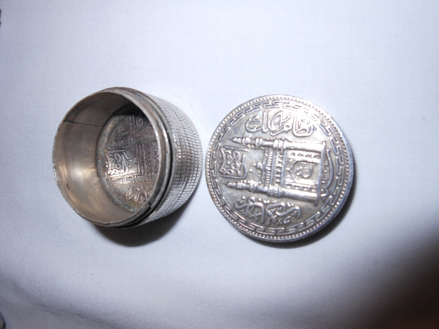 Antique Trench art Hyderabad Rupee pill/snuff box