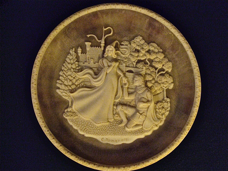 Antique Great Romances of History -- Lancelot and Guinevere -- sculpted by Carl Romanelli