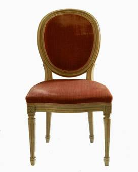 Antique 6 French Dining Chairs painted Louis Medallion Back to recover