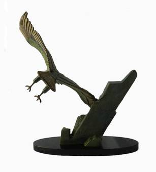 Antique Art Deco Eagle in Flight by Rulas Signed Sculpture Statue on Marble Base Animalia