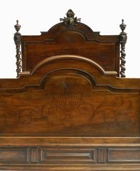 Antique Stunning Antique French Bed UK King size US Queen Walnut Louis