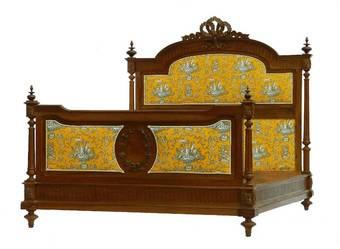 Antique French Bed  Base UK King size US Queen 19th Century Louis can change covers if required