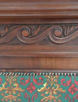 Antique French Bed UK King size US Queen 19th century Gothic revival Louis can change covers